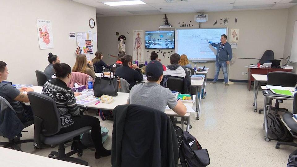 Les étudiants dans une classe.