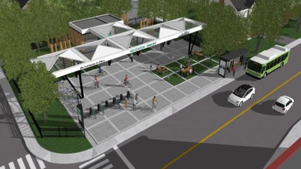 Le projet de halte proposé par le conseil de quartier de Sillery.