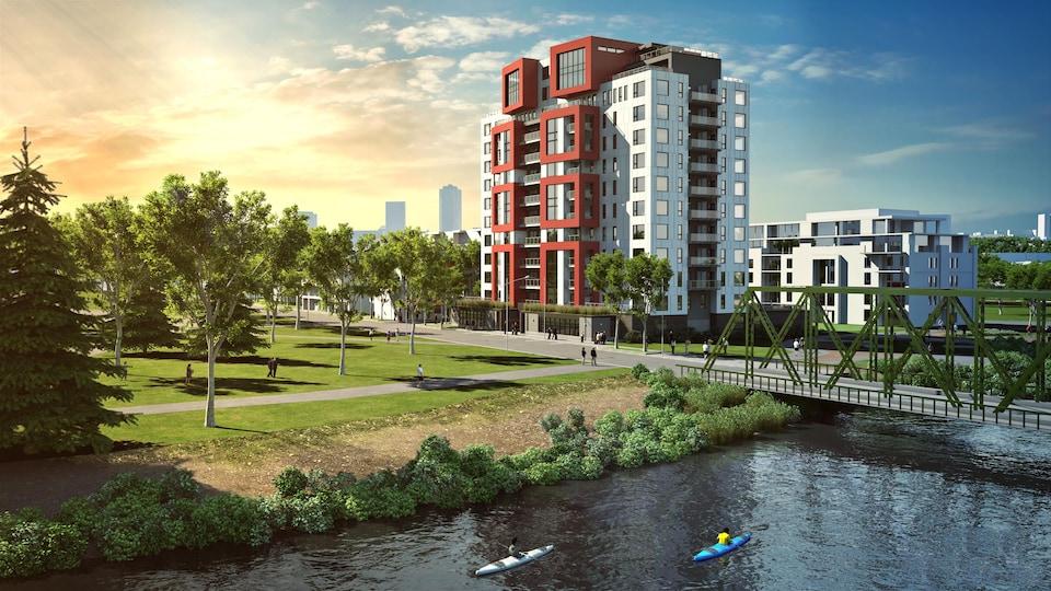 Un bâtiment résidentiel construit complètement en bois sera érigé à la Pointe-aux-Lièvres.