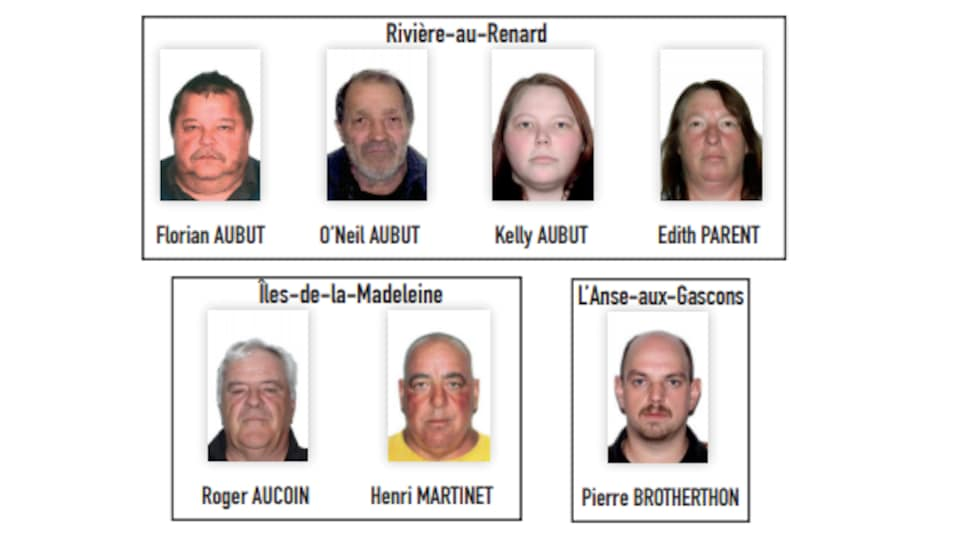 Cinq Gaspésiens et deux Madelinots ont été arrêtés jeudi par la Sûreté du Québec.