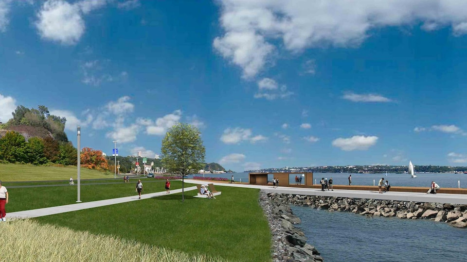Esquisse de la phase 3 de la promenade Samuel-De Champlain.