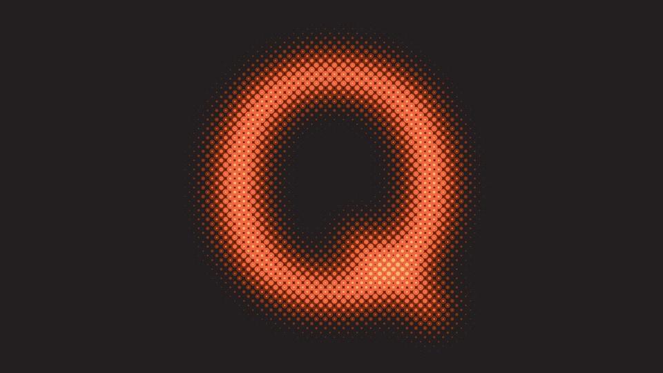 La lettre Q floue.