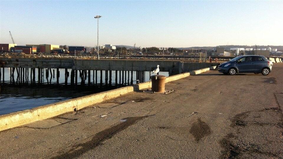Quai industriel au port de Matane