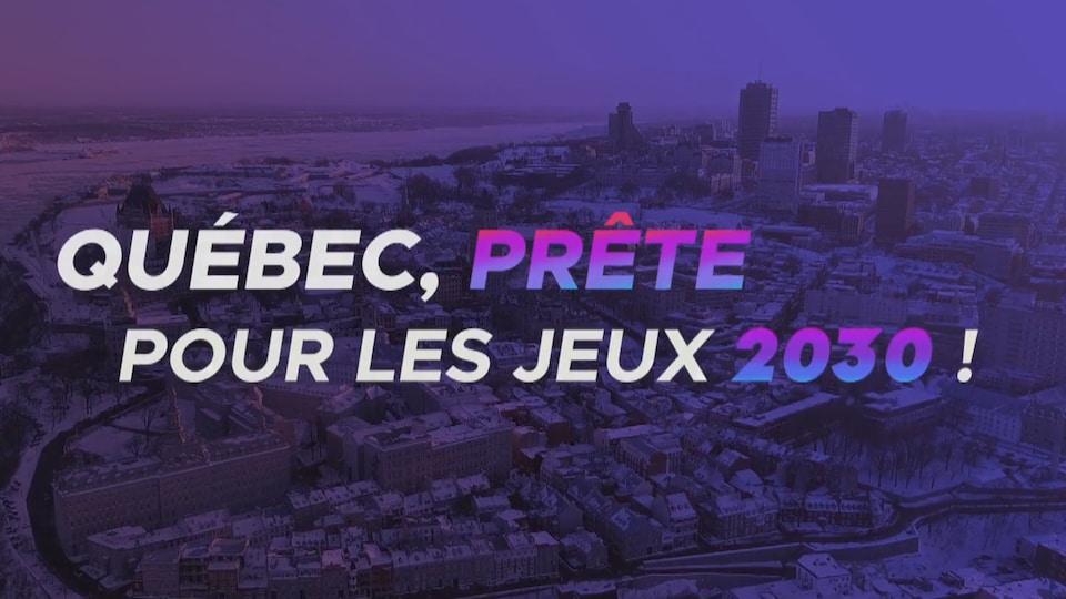Un extrait de la vidéo promotionnelle dévoilée jeudi par le comité Québec 2030.