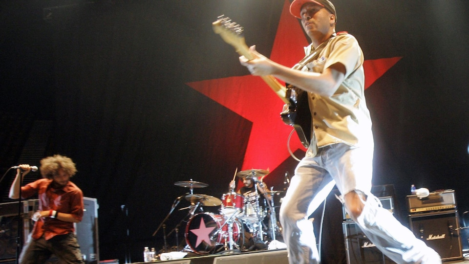 Tom Morello, Brad Wilk et Tom Morello du groupe Rage Against the Machine