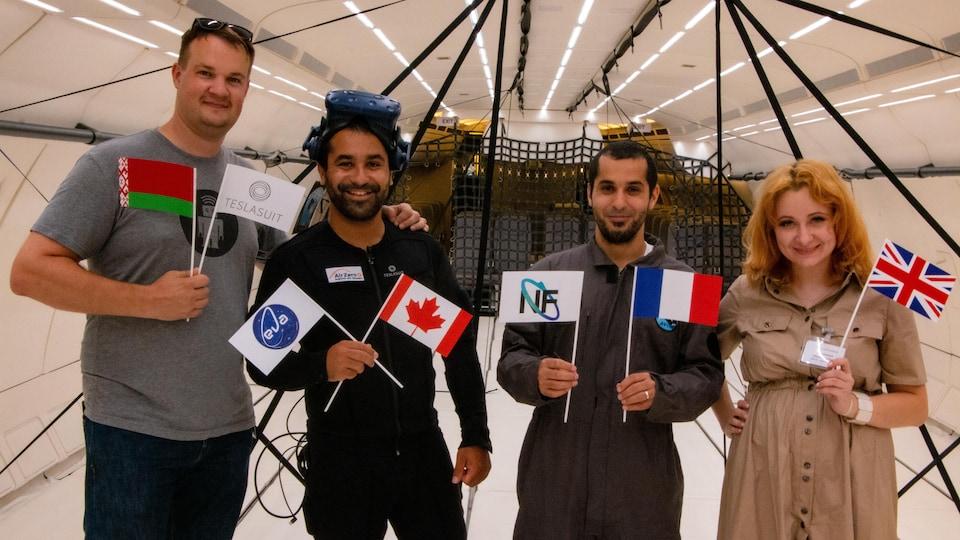 Dimitri Mikhalchuk, Rafik El Houssine, Jawad El Houssine et Anastasia Vinogradova à quelques jours de leur départ en France.