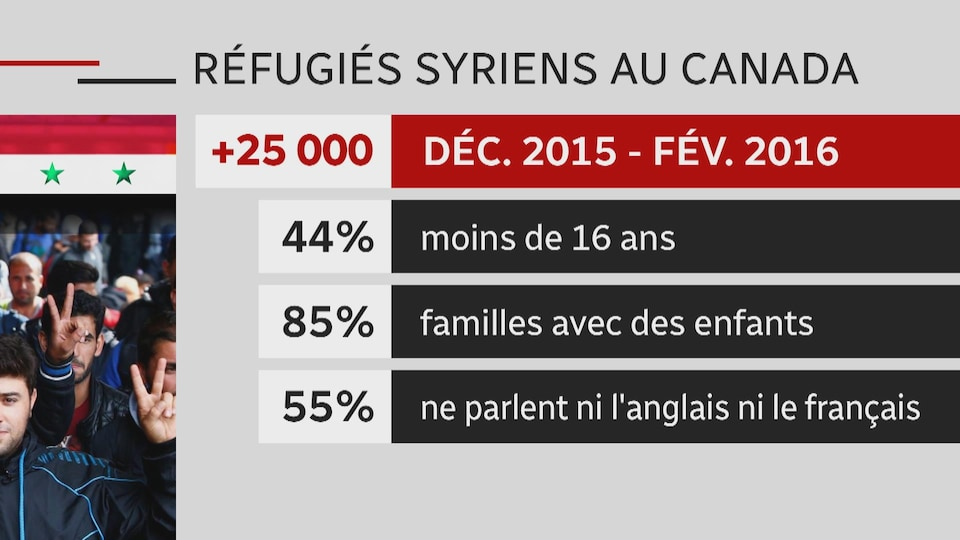 Des statistiques sur le portrait des réfugiés syriens au Canada