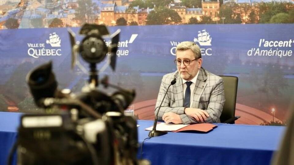 Régis Labeaume annonce qu'il ne sollicitera pas de 5e mandat à la mairie de Québec.