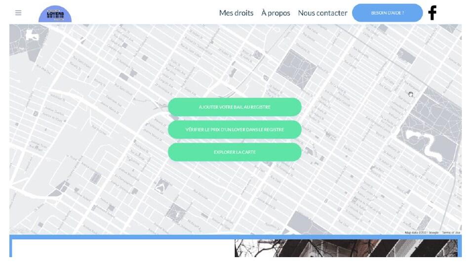 Capture d'écran montrant l'interface de la plateforme registredesloyers.quebec.