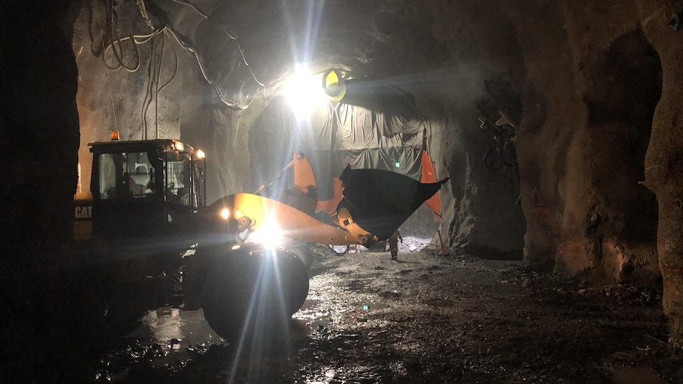 Chantier du tunnel.