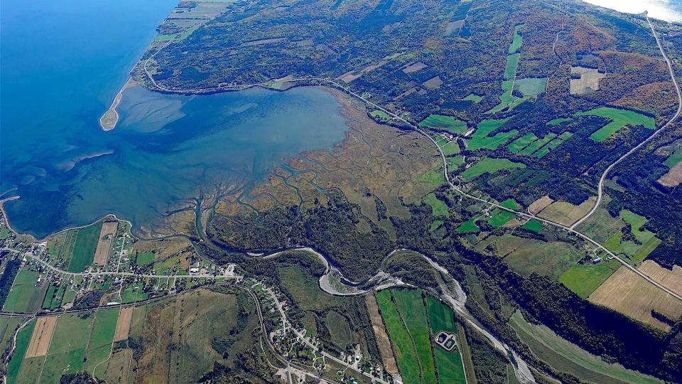 Delta de la rivière Nouvelle et pointe de Miguasha