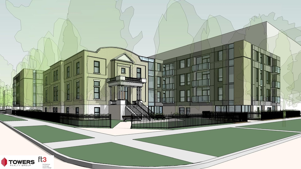 Plan du projet de la résidence Langevin située au 210, rue Masson dans le quartier Saint-Boniface.