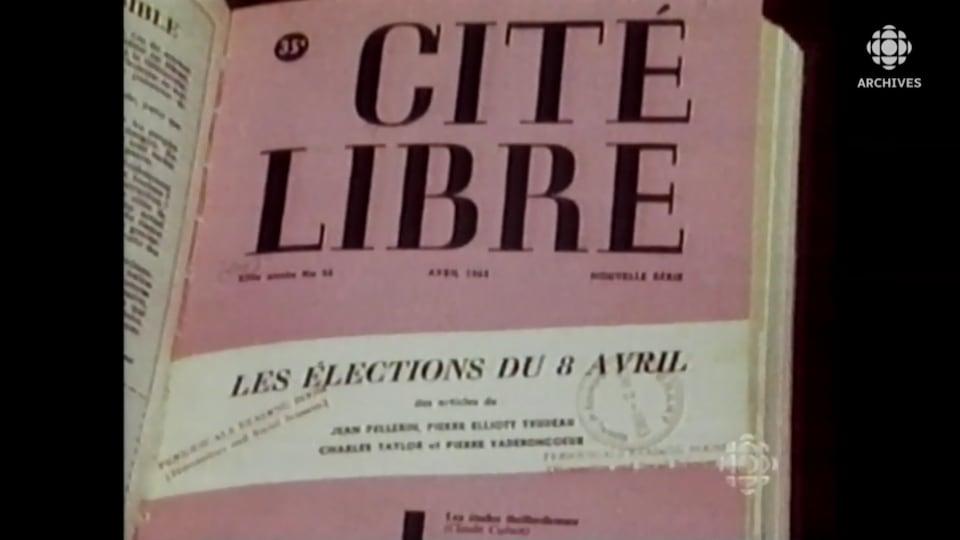 Couverture de la revue Cité libre en avril 1963 sur les élections.