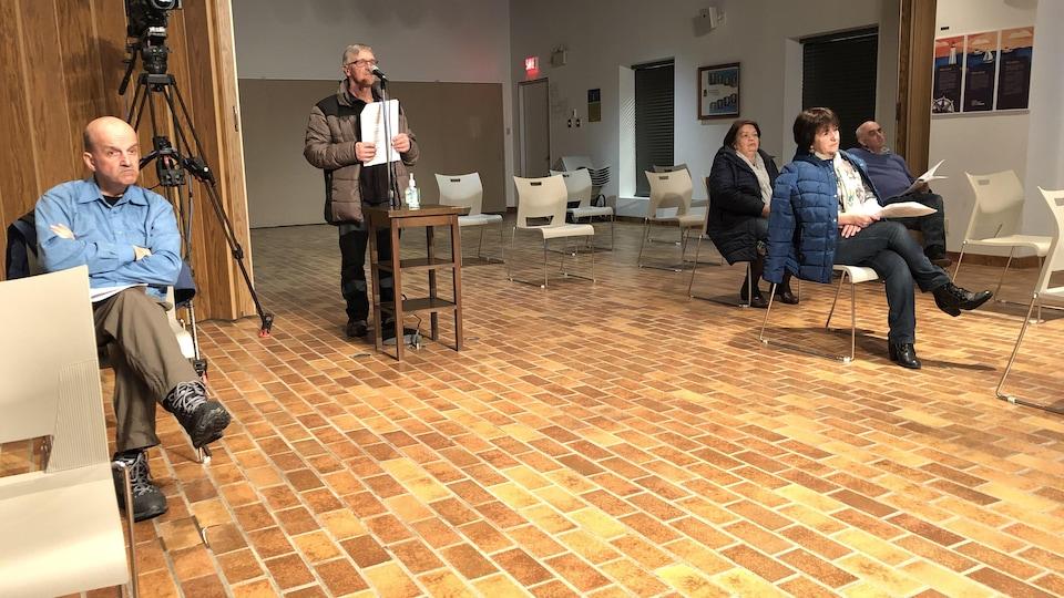 La nouvelle disposition de l'espace réservé au public lors des séances du conseil municipal de Rimouski