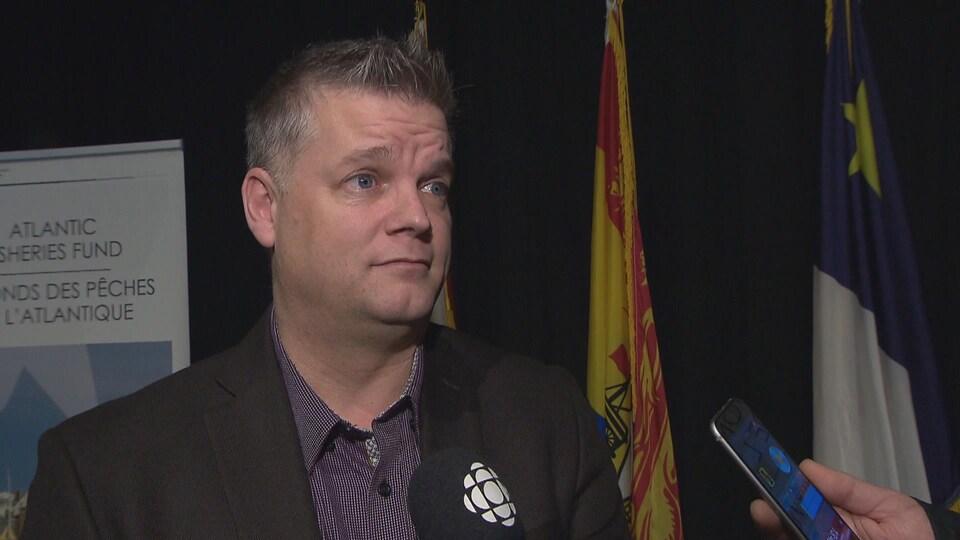 Robert Gauvin, vice-premier ministre du Nouveau-Brunswick, en entrevue.