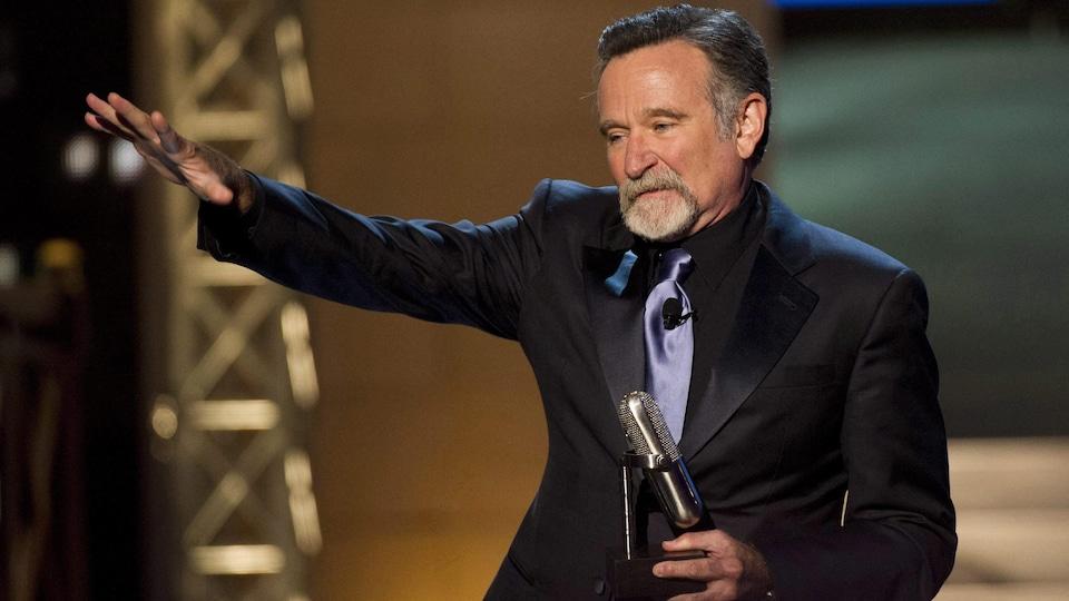 Robin Williams sur scène.