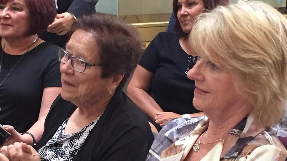 Rosina Bruno (à gauche sur la photo) et Cheryl Bruno (à droite).
