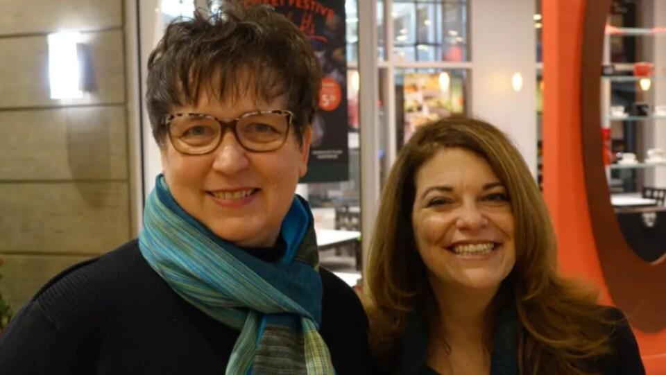 Leeanne Van der Burgt, à gauche, et Kelly Dumas du ROSSS.
