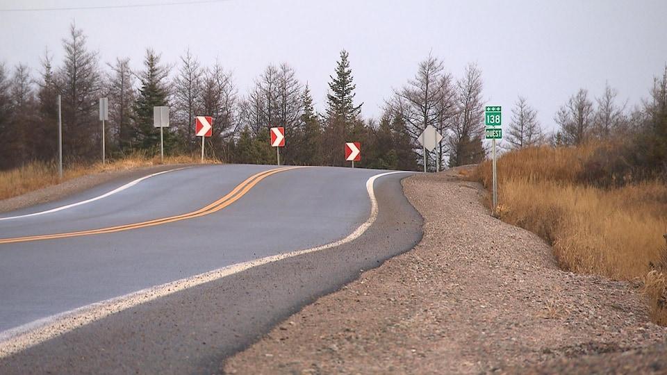 La route 138 sur la Côte-Nord.