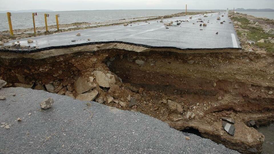 La route détruite