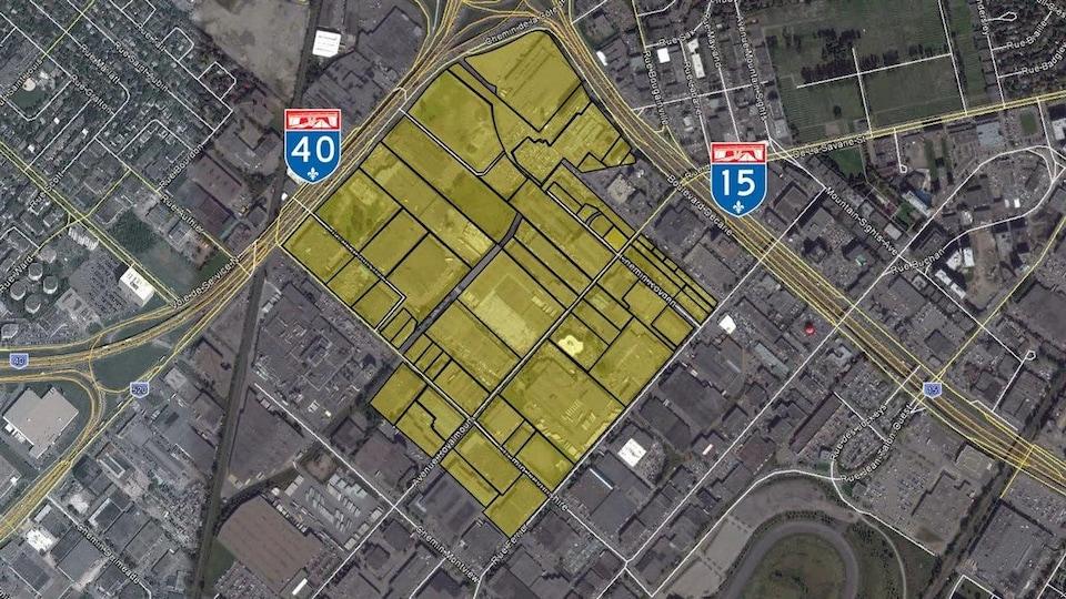 Le Royalmount sera construit à l'angle des autoroutes 40 et 15.