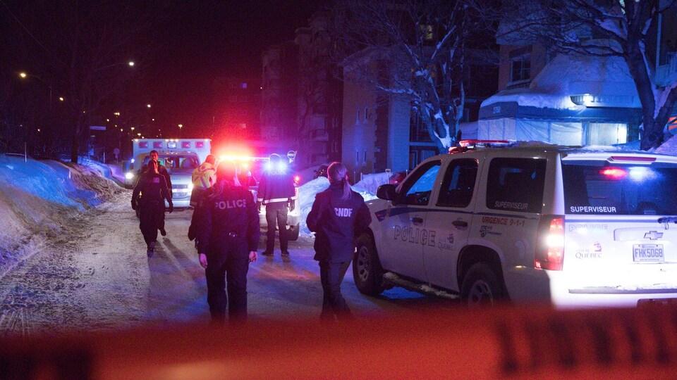 Policiers et ambulanciers sont intervenus sur la rue de la Concorde samedi soir.