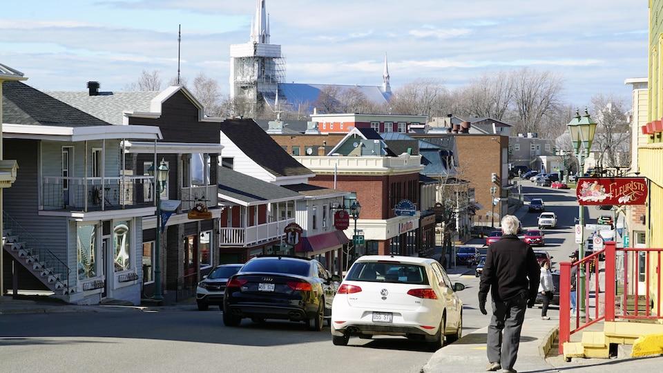 La rue Lafontaine, à Rivière-du-Loup.