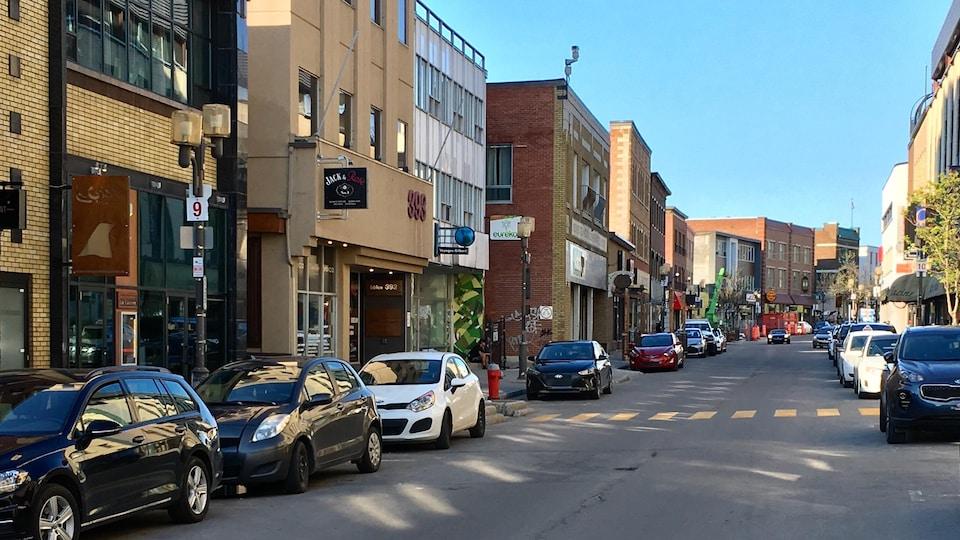 La rue Racine au centre-ville de Chicoutimi