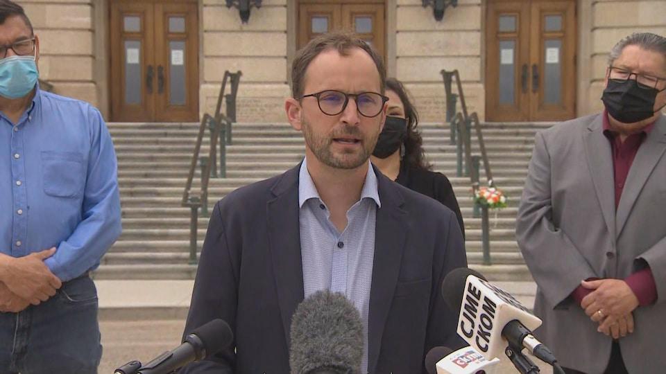 Le chef de l'opposition de la Saskatchewan, Ryan Meili.