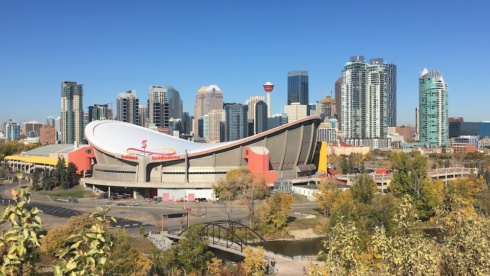 Le Saddledome, l'aréna des joueurs des Flames, à Calgary.