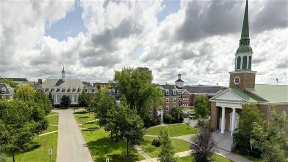 Le campus de l'Université Saint-François-Xavier à Antigonish en Nouvelle-Écosse