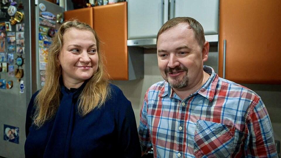 Portrait de Denis et Valentina Abanine.