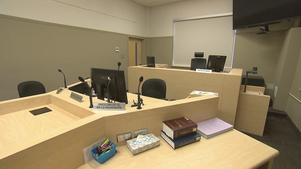 Une salle d'audience de la cour municipale de Québec