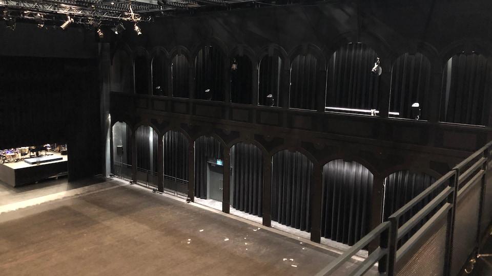 La salle de diffusion du Diamant vue de l'intérieur.