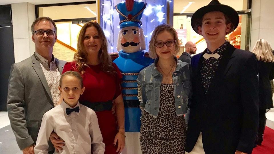 Sandra Demontigny et sa famille