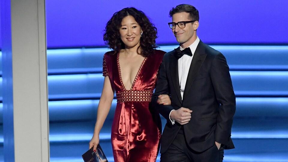 Sandra Oh et Andy Samberg