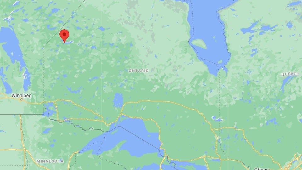 Une carte de l'Ontario.