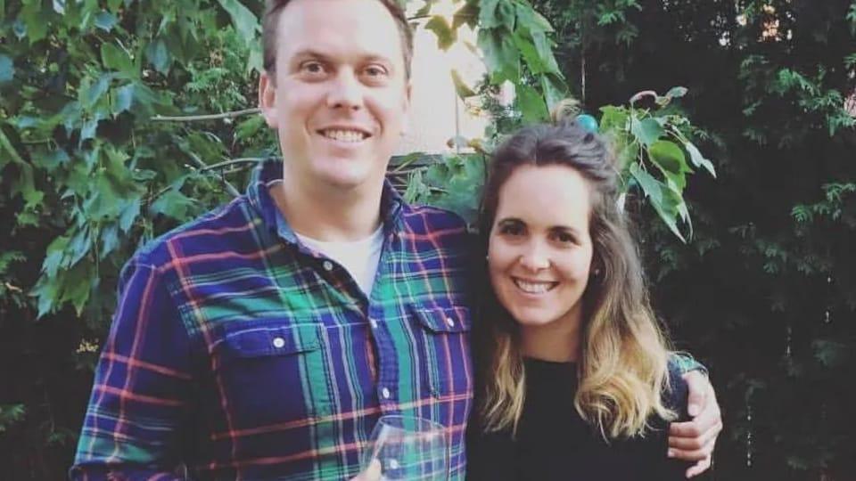 Sarah Cowans et son mari.