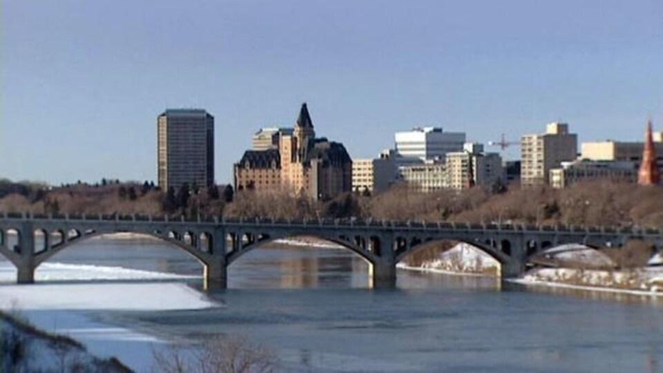 Le centre-ville de Saskatoon.