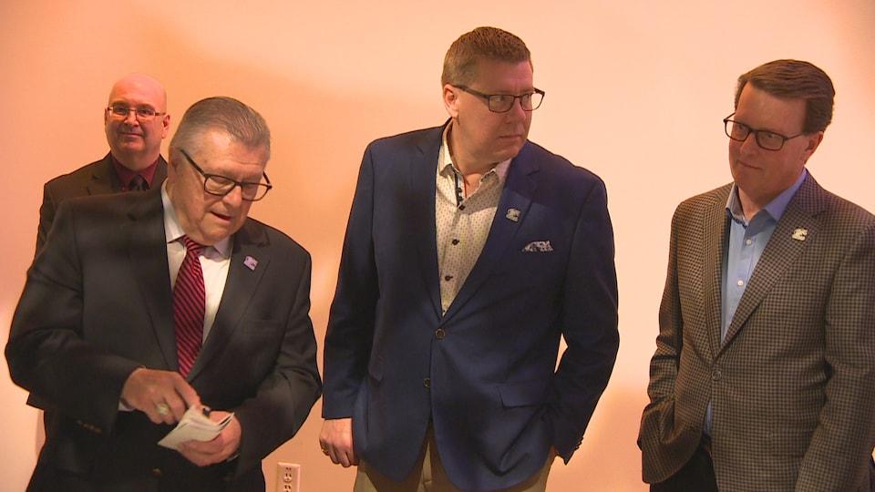Ralph Goodale, Scott Moe et Michael Fougère