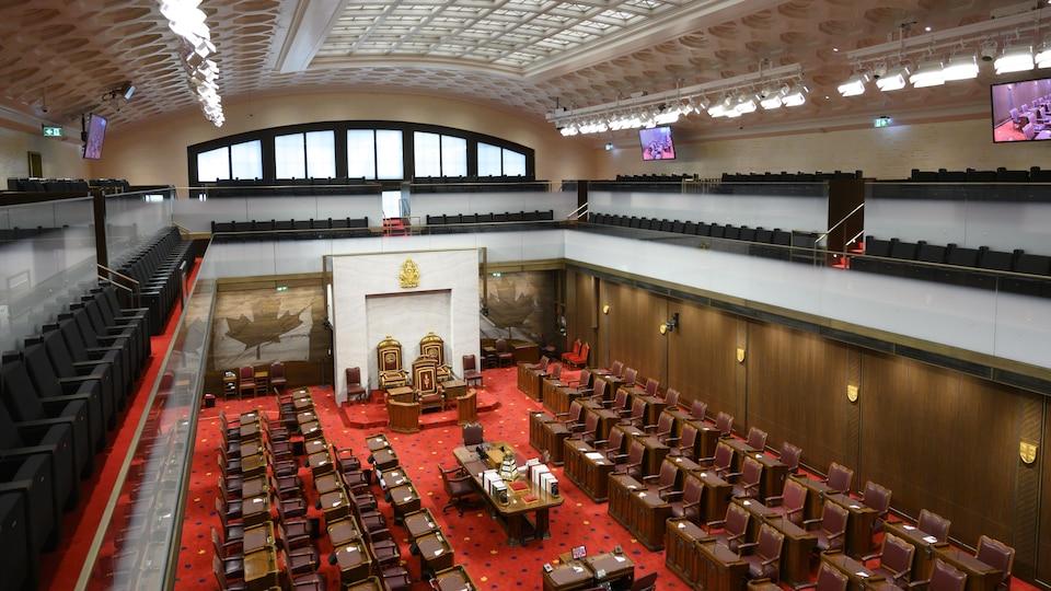 Vue aérienne du Sénat.