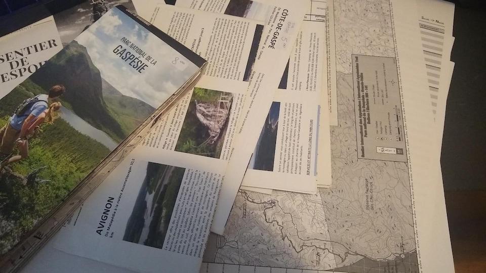 Des cartes du SIA et du parc national de la Gaspésie.