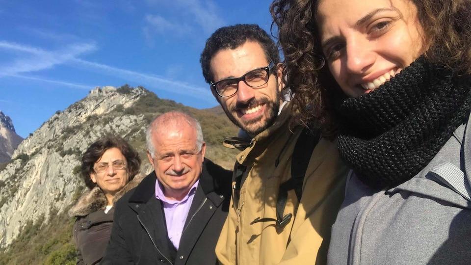 Serge Nader et sa famille dans les montages.
