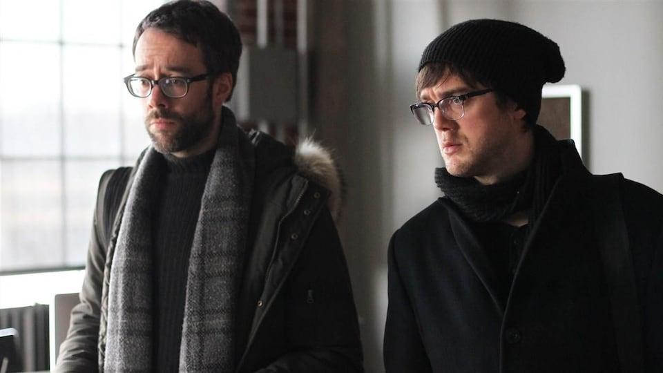 François Létourneau et Vincent-Guillaume Otis dans une scène de « Série noire »