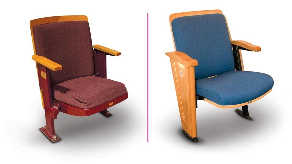 L'ancien siège, à gauche, et le nouveau siège à droite