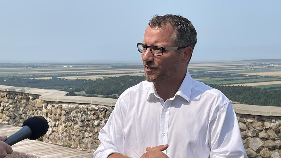 Simon Bérubé, en entrevue.
