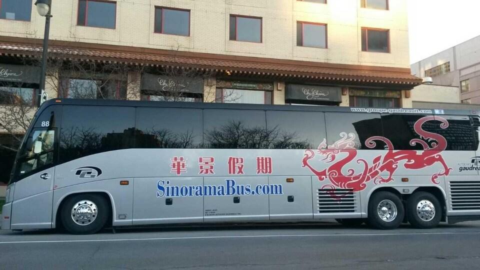 Un autobus de la compagnie Sinorama.