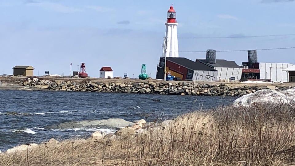 Plan général du phare et des bâtiments du Site historique maritime.