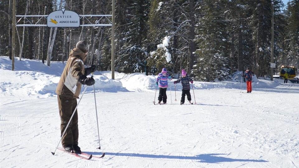 Club de ski de fond de Val-d'Or et sentier glacé