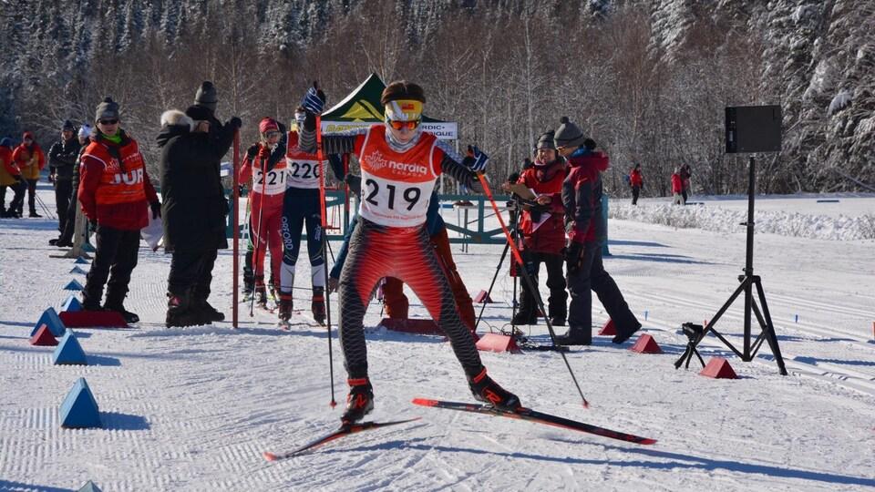 Raphaël Boutroy lors d'une compétition.